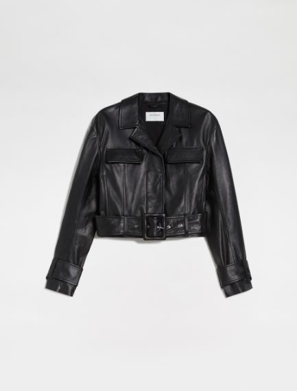 Nappa leather cropped jacket Sportmax