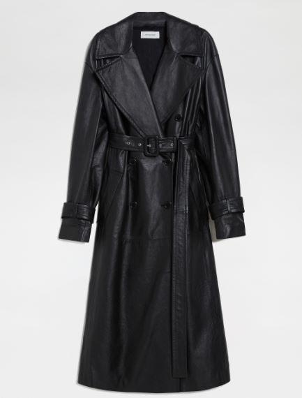 Nappa leather trench coat Sportmax