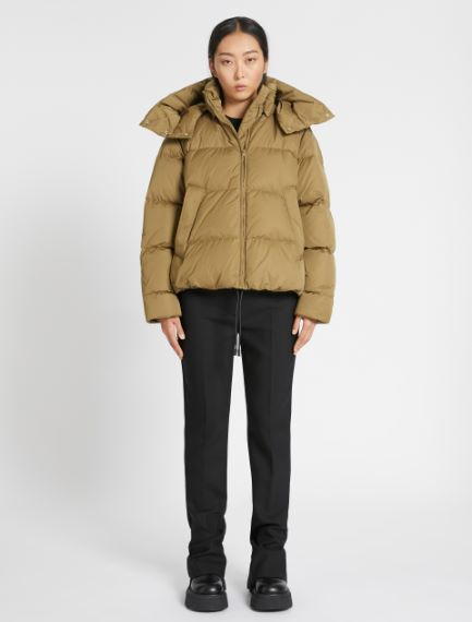 Boxy down jacket with a detachable hood Sportmax