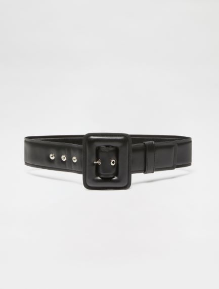 High-waisted Nappa leather belt