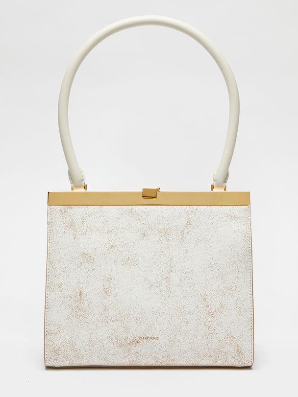 Crackled leather clutch bag Sportmax