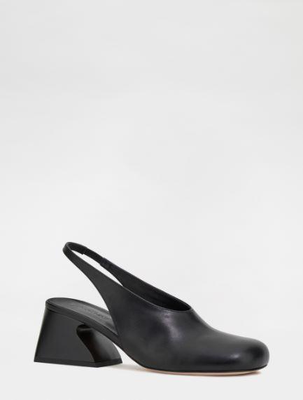 Semi-opaque slingbacks