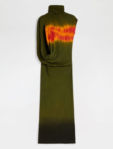 Tie-dye jersey dress