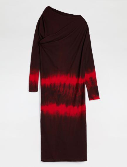 Tie-dye draped jersey dress