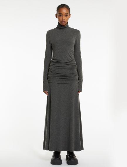 Double-layered jersey dress