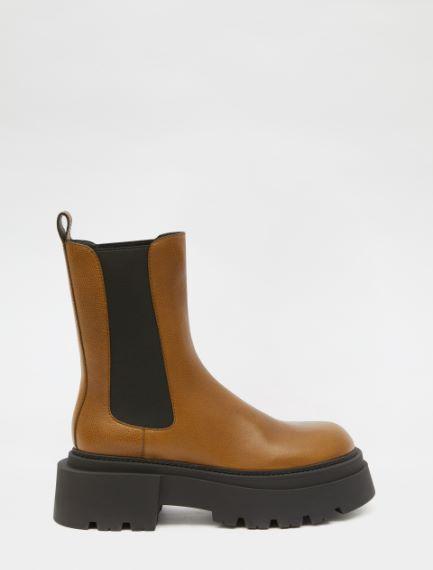Vintage leather Chelsea boots Sportmax