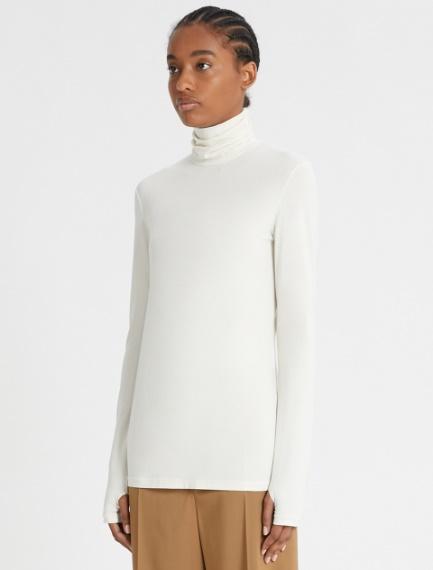 High-neck T-shirt