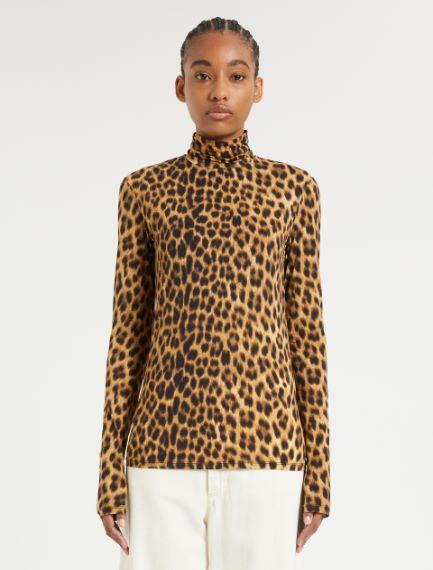 Skintight jersey polo-neck sweater Sportmax