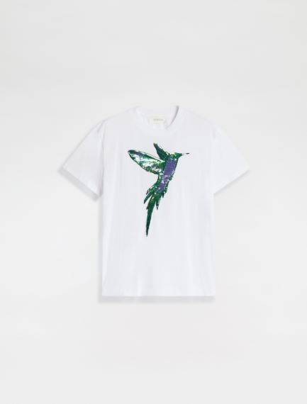Sequin embroidery T-shirt