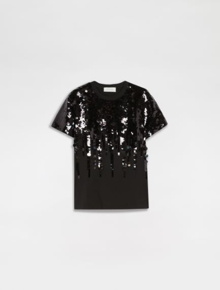 Sequin and embroidery T-shirt Sportmax