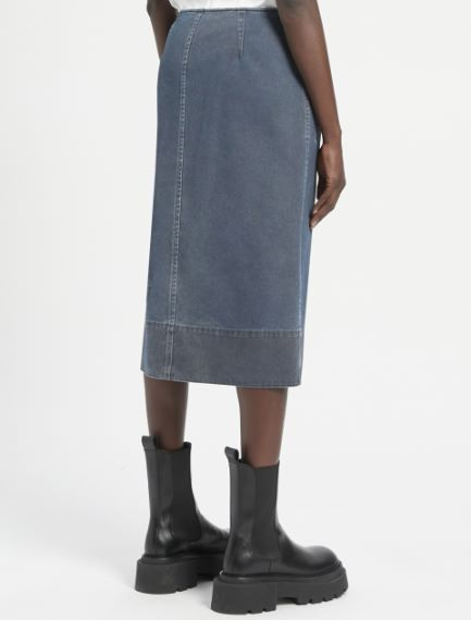 Doctored cotton drill skirt