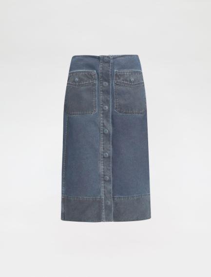 Doctored cotton drill skirt Sportmax