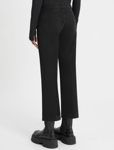 5-pocket mini-flare cropped jeans