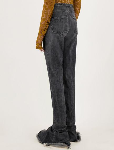 5-pocket worn denim trousers