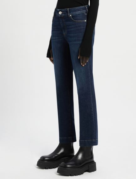 5-pocket mini-flare cropped trousers