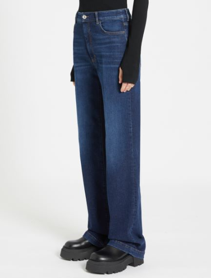 Wide-fit 5-pocket trousers