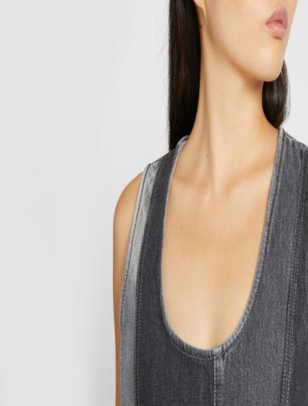 Inlaid sleeveless dress