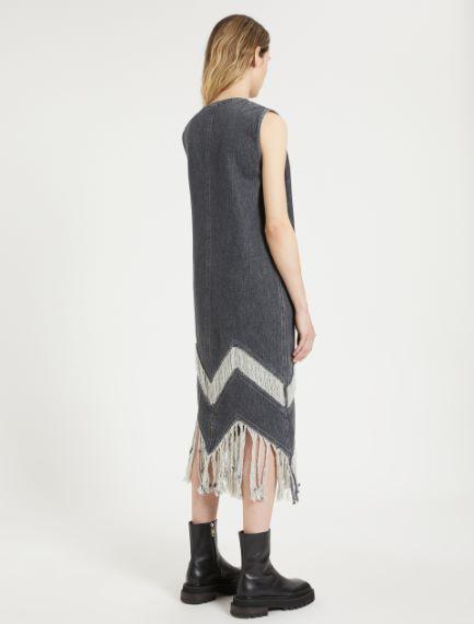 Fringed sleeveless dress