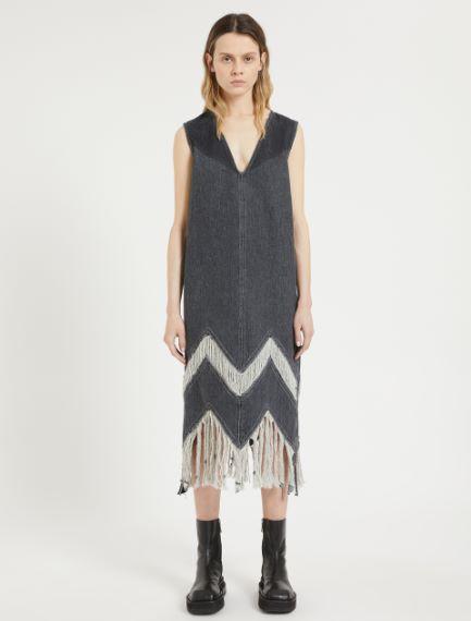 Fringed sleeveless dress Sportmax