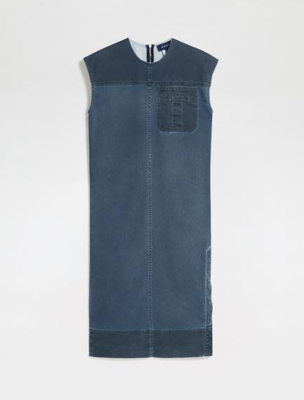 Draped lightweight cotton drill dress Sportmax